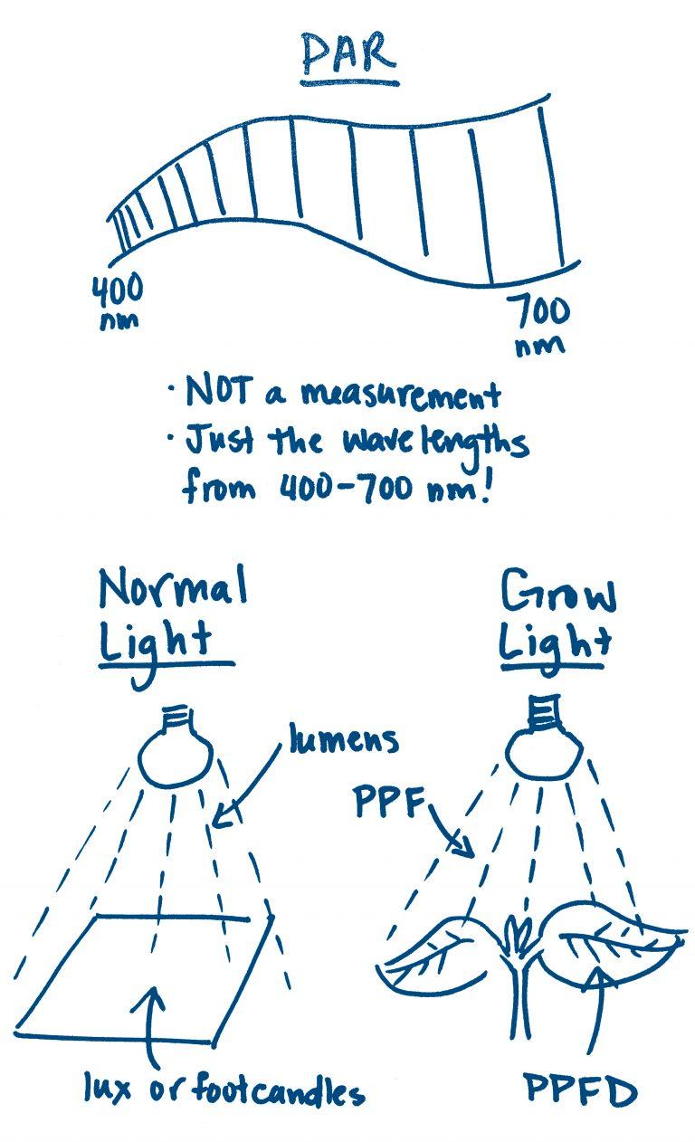 grow light par lux ppfd